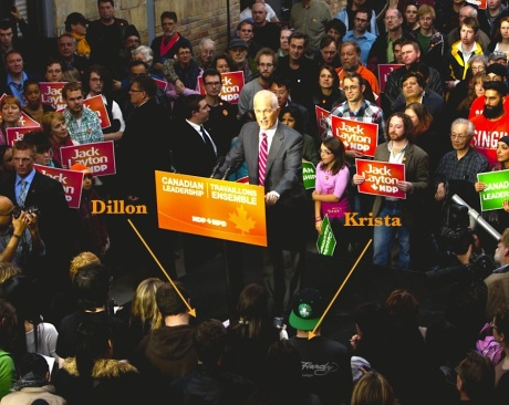 Seeing the late Jack Layton in 2011